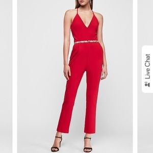 NWT Red Cross back cami jumpsuit